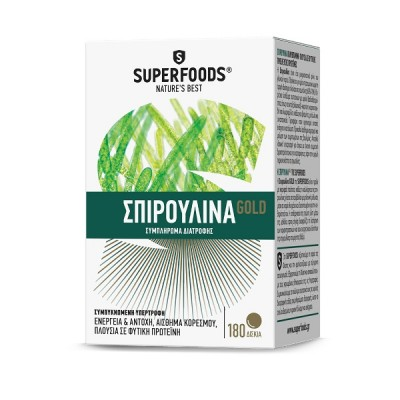 SUPERFOODS SPIRULINA GOLD EUBIAS 300MG 180TAB