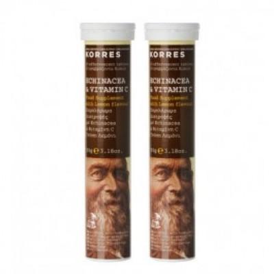 Korres Echinacea & Vitamin C 20 Αναβράζοντα Δισκία 1+1 Δώρο