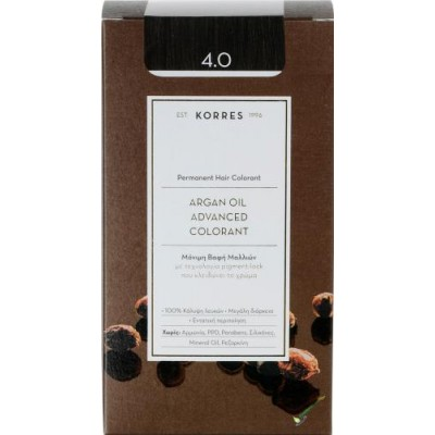 KORRES ARGAN OIL ADVANCED COLORANT 4.0 ΚΑΣΤΑΝΟ ΦΥΣΙΚΟ