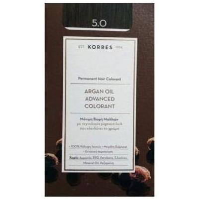 KORRES ARGAN OIL ADVANCED COLORANT 5.0 ΚΑΣΤΑΝΟ ΑΝΟΙΧΤΟ ΦΥΣΙΚΟ