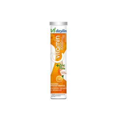 Abbott Vi-Daylin Vitamin C 1000 mg + Zinc 20 Αναβράζοντα Δισκία