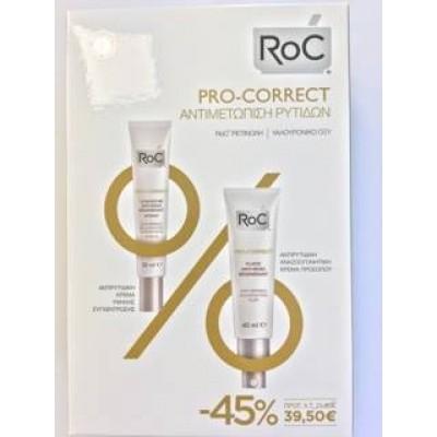Roc Pro-Correct fluid face 40 ml + Δώρο Concentre Pro-Correct 30 ml