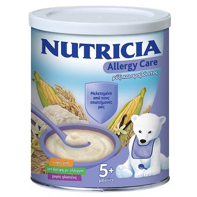 NUTRICIA ALLERGY CARE ΡΥΖΙ ΚΑΙ ΑΡΑΒΟΣΙΤΟΣ ΓΙΑ ΒΡΕΦΗ ΑΠΟ 5+ ΜΗΝΩΝ ΜΕ ΑΛΛΕΡΓΙΑ 300GR