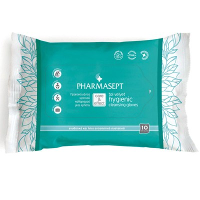 PHARMASEPT TOL VELVET HYGIENIC CLEANSING GLOVES 10 TMX.