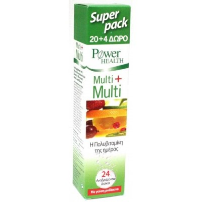 POWER HEALTH MULTI + MULTI 20+4EFF. TABS