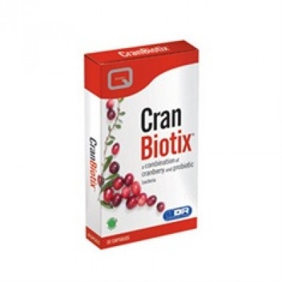 Quest Cranbiotix With Cranberry Extract And 2 Billion L.Acidophilus, L.Rhamnosus & L.Casei 30CAPS