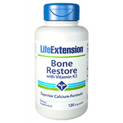 LIFE EXTENSION BONE RESTORE WITH K2 120 CAPS (Φικιωρης)
