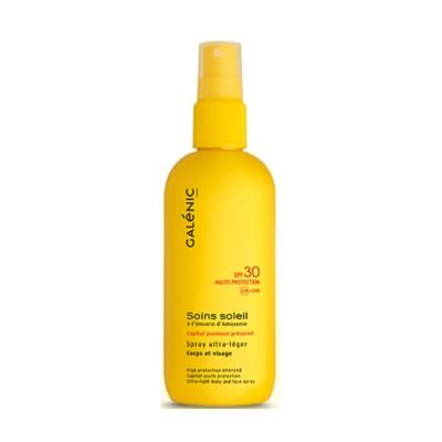 Galenic Soins Soleil Spray Ultra Lèger SPF30 Ανάλαφρο Αντηλιακό Σπρέι για Πρόσωπο/Σώμα 125ml