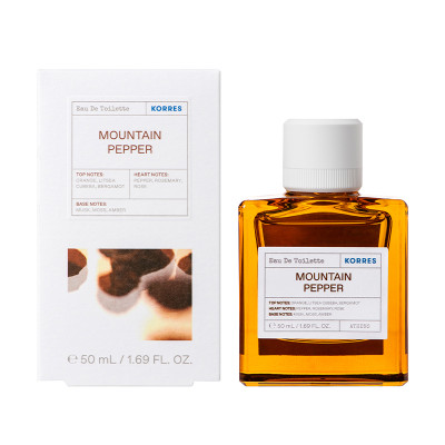 KORRES EAU DE TOILETTE MOUNTAIN PEPPER,BERGAMOT, 50ml