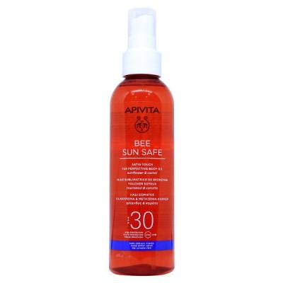 Apivita Bee Sun Safe Λάδι Σώματος για Μαύρισμα & Μεταξένια Αίσθηση SPF30 200 ml